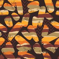 Tribal etnische naadloze patroon met geometrische elementen en penseelstreken.
