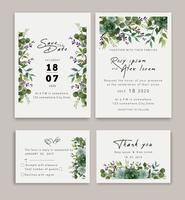 Trouwkaarten bewaren het ontwerp van de datumkaart met elegante tuinanemoon.