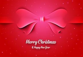 Kerstkaart met strik