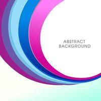 Abstracte minimale kleurrijke vorm