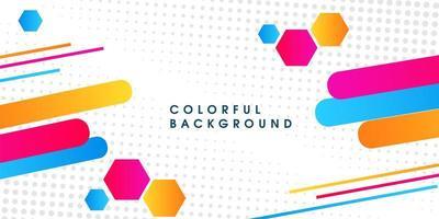 Abstracte kleurrijke moderne geometrische achtergrond