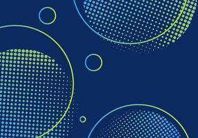 Moderne donkere kleurenachtergrond met halftone cirkelelementen