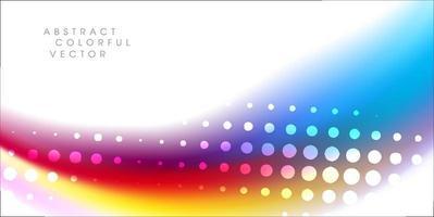 Regenboogkleur met halftoonelement