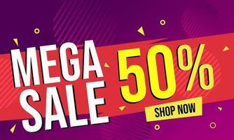 Mega verkoop abstracte banner achtergrond
