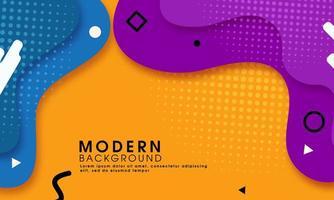 Moderne abstracte gele achtergrond met vloeibare vormen