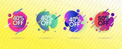 Set van abstracte verkoop tags