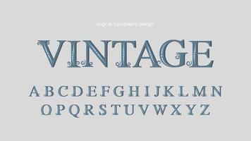 Vintage decoratieve wervelingen artistieke lettertype