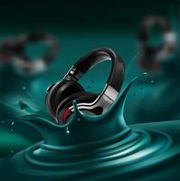 splash groene microfoon