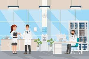 Artsen In Medische Zaal vector
