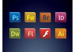 Creatieve suite iconen vector