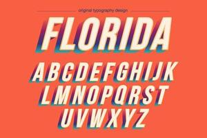 Vintage kleurrijke vetgedrukte typografie