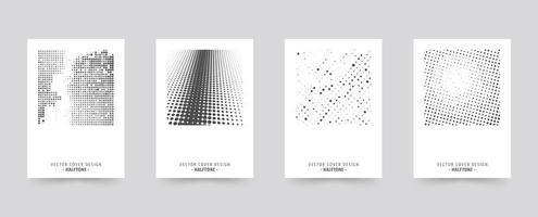 Halftone brochure voorbladsjabloon set