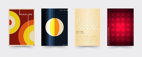 Set brochure omslagsjablonen