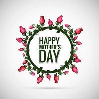 Mooie gelukkige moederdag met florale achtergrond vector