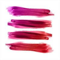Abstracte kleurrijke aquarel lijnen Set vector