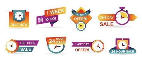 Aantal verkoop countdown badges en stickers