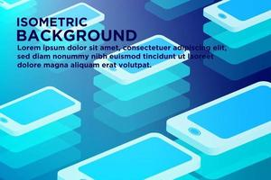 Gloeiende gestapelde smartphone die patroonachtergrond herhalen vector