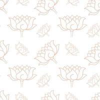 Hand getekend botanisch naadloos patroon vector
