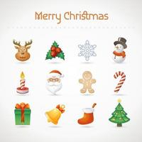 Kerst icon set vector