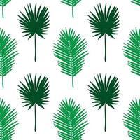Naadloos tropisch patroon. Zomer exotische planten sieraad. vector