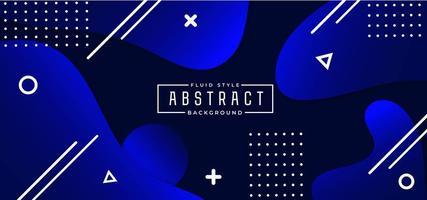 Koningsblauwen vormen abstracte vloeistof achtergrond