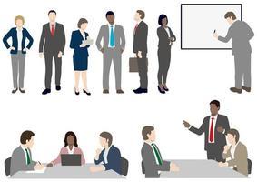 Set van mensen uit het bedrijfsleven in vlakke stijl