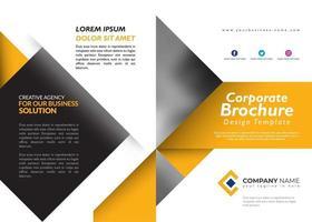 Gele brochure ontwerpsjabloon vector