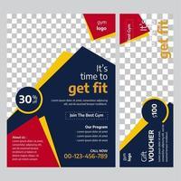 Gym Flyer-sjabloon met abstract ontwerp