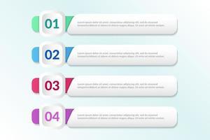 lijst Infographic-ontwerp met 4 lijsten voor bedrijfsconcept