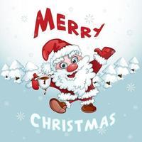 Wenskaart Merry Christmas vector