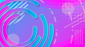 Blauwe ronde en cirkel abstracte achtergrond