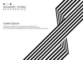 Abstracte zwart-witte op-art gestreepte lijnachtergrond