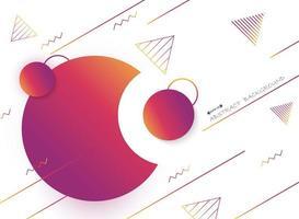 Abstract retro rood en oranje geometrisch vormenpatroon vector