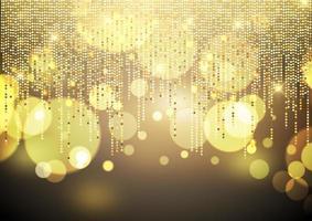 Gouden vage lichtenachtergrond vector