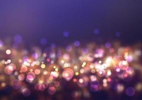 Glittery bokeh lichten vector