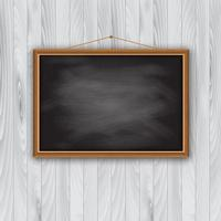 Schoolbordframe op houten muur
