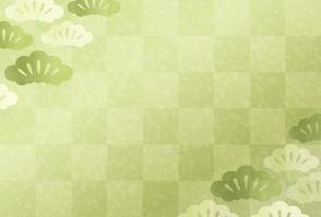 Japanse New Years groene kaartsjabloon vector