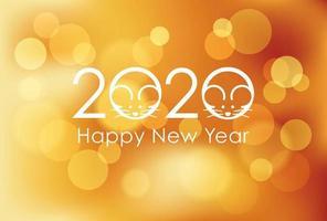 2020 - het jaar van de rat vector
