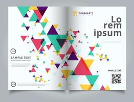 Sjabloon lay-out brochure abstract kleurrijk en creatief