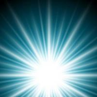 Lichteffect zonnestraal of zonnestralen op donkerblauwe achtergrond. vector