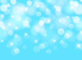 Vage blauwe hemelachtergrond met bokeh verlichtingseffect vector