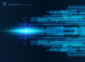 De abstracte blauwe virtuele futuristische achtergrond van het technologieconcept