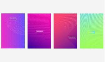 Minimale zakelijke covers ingesteld met kleurrijke halftone verlopen
