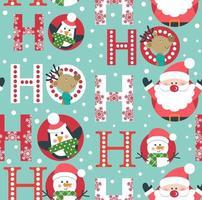 Kerst ontwerp naadloos patroon vector