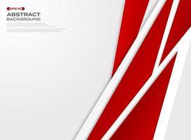 Abstracte minimalistische rode geometrische gesneden papier achtergrond vector