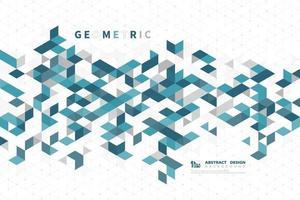 Abstract blauwgroen modern technologie vierkant patroon vector
