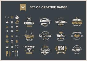 Set van creatieve retro zakelijke badges vector