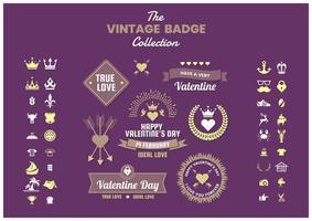 Set van vintage zakelijke badges en pictogrammen vector