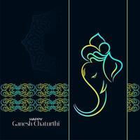 Kleurrijke donkere Ganesh Chaturthi-achtergrond vector
