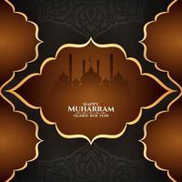 Gelukkige Muharran-achtergrond met moskee